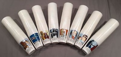 ~COMPLETE Set of 8~ Limited Edition 1977 Vintage STAR WARS Coca Cola Promo Cups