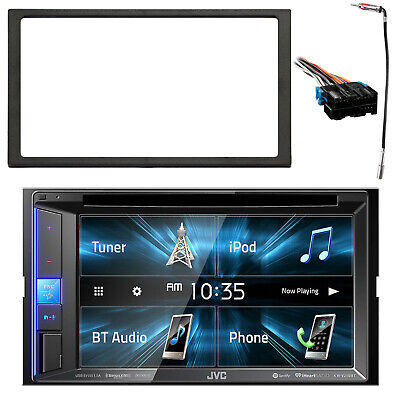 "JVC 6.2"" DVD/CD/AM/FM Bluetooth Stereo, Dash Kit, Radio Harness, Antenna Adapter"