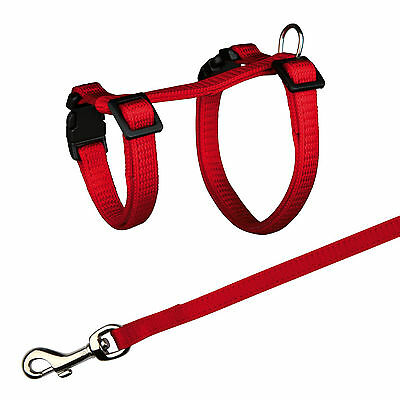 6261 Trixie Nylon Harness With Lead for Guinea Pigs 4 Colours - 21-35cm x 10mm