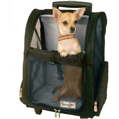 Snoozer Roll Around 4-in-1 Pet Carrier, Black, Large OPEN BOX