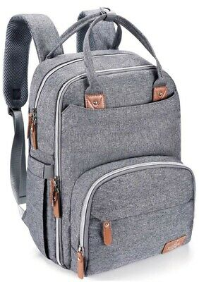 Diaper Bag Backpack, BabbleRoo Travel Backpack for Mom and Dad, Large Capacity