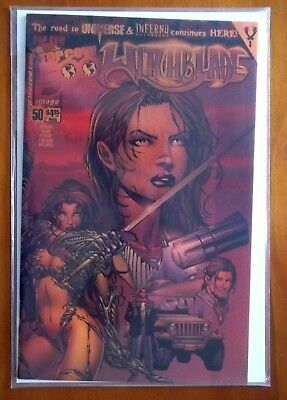GOLD CHROME COVER DF COA WITCHBLADE Top Cow Image Comic #50 Dynamic Forces