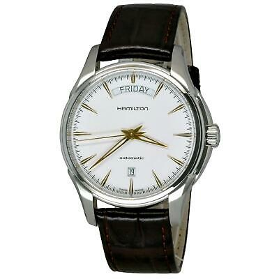 Hamilton Men's Jazzmaster Day Date 40Mm Leather Band Automatic Watch H32505511