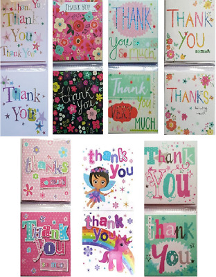 Small Thank You Cards Notelets Multipack 8 Pack