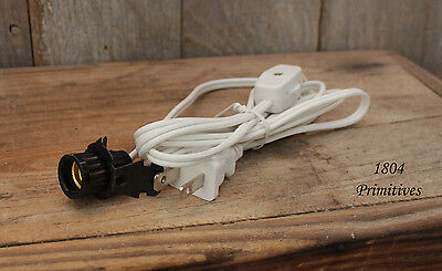 2  Snap-In Candelabra Socket - WHITE Cord - Lamp Making Supplies