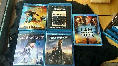blu ray movies lot of 5 divergent I am # four tombstone ultraviolet cowboys ++++