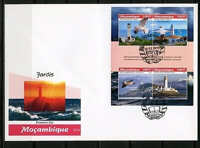 Mozambique 2019 Lighthouses Sheet First Day Cover