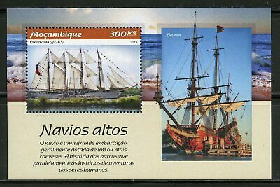 Mozambique 2019  Tall Ships  Souvenir Sheet Mint Never Hinged