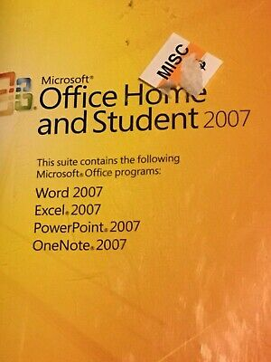 Microsoft Office Home and Student 2007 Full Version w/ Code C4