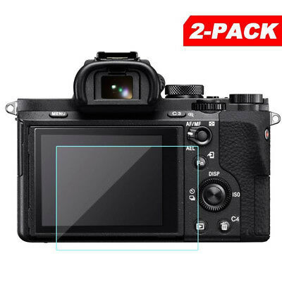 2Pcs Tempered Glass Screen Protector For Sony Alpha A7 II A7III A7SII A7RII A9