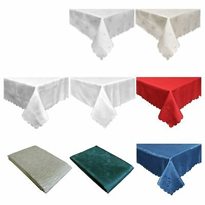 Stain Resistant Jacquard Table Cloth Assorted Designs 150 x 270cm Rectangle - 6