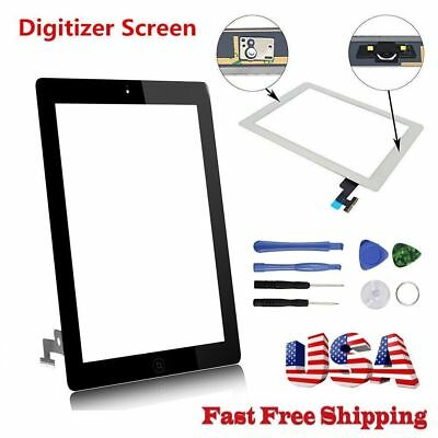 OEM For iPad 2 3 4 5 Air Mini 1 2 Touch Screen Digitizer Replacement w/ Adhesive