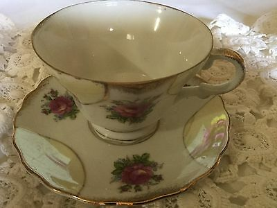 Made In Japan Pedestal Cup And Saucer