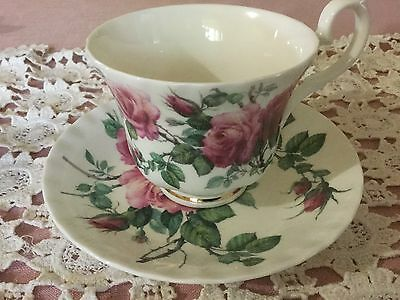 Roy Kirkham Bone China Cup And Saucer England   English Rose Pattern
