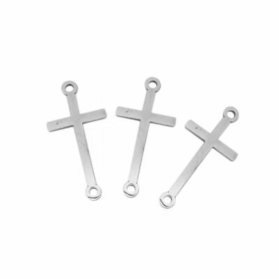 10x 304 Stainless Steel Round Rosary Center Connector Cssml Ndsmd God Craft 18mm