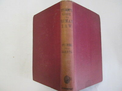 Good - Student's Guide to Roman Law: Justinian and Gaius - L. H Barnes, Dalzell