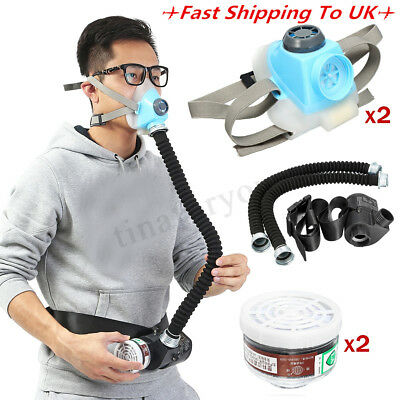 Electric Constant Flow Air Supplied Fed Respirator System Half Face Gas Mask