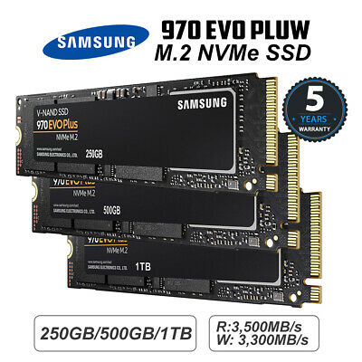 Samsung 970 EVO Plus M.2 NVMe SSD 250GB/500GB/1TB 5Years