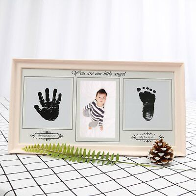 Baby Hand & Foot Print Ink Imprint Photo Picture Frame Christening Keepsake Gift