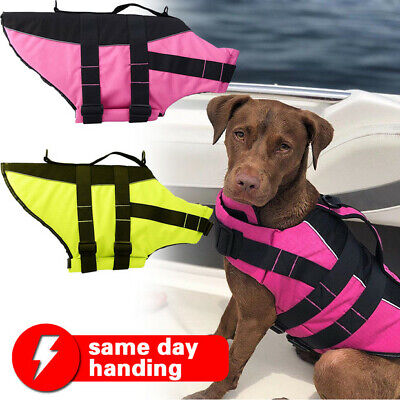 Dog Life Jacket Small Shark Pet Swimming Vest for Dogs SIZE:S & L
