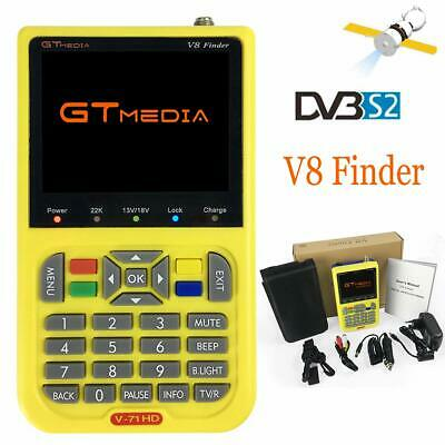 "GTMedia V8 Finder Satellite Finder DVB-S2 FTA 1080P HD 3.5"" LCD Batería 3000mAh"