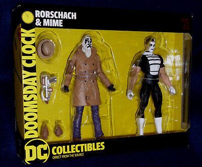 Watchmen Doomsday Clock Rorschach and Mime Action Figure 2-Pack DC35381