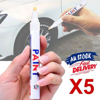 5x White Car Waterproof Tire Motorcycle Tyre Marking Cool Pen Marker Tread Paint