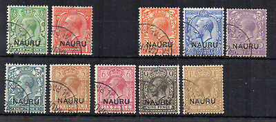 Nauru 1916-23 GB opt values to 1s FU CDS