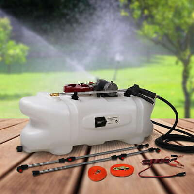 60L ATV Garden Weed Sprayer 12V Pump Tank Chemical Spray Boom Portable Spot Wand