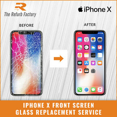 Apple Iphone X  Cracked Front Lcd Screen Glass Replacement Repair Service