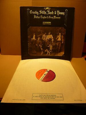 Original Crosby Stills Nash & Young-Deja Vu.1St Uk Pressing Vinyl Lp Record 1970