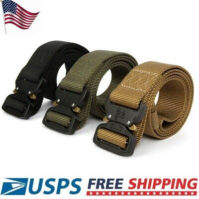 "49"" X 1.7"" Men Tactical Buckle Belt Military Nylon Training Strap Rescue Rigger"
