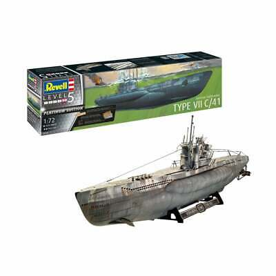 Revell 05163 1:72 German Submarine Type VII C/41 Platinum Edition Model Ship Kit