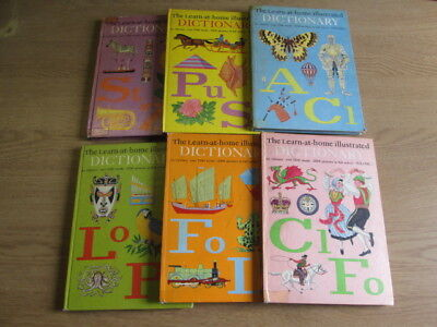 6 x The Learn at Home Illustrated Dictionary - Complete Set - Golden Pleasure Bo