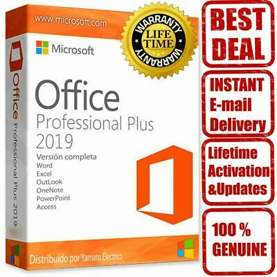 Office 2019 Professional Plus Genuino clave de licencia 32/64 Bits Windows 10