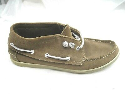 842b80977e6 1901 Pacific brown leather boat shoes Mens ankle boots loafers shoes sz 42  9D