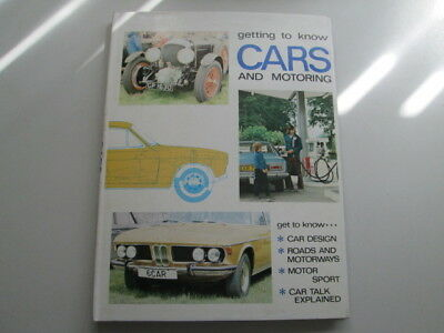 Good - GETTING TO KNOW CARS AND MOTORING - DEREK SANSOM 1111-01-01 Foxing/tannin