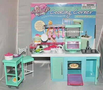 FANCY Life DOLL HOUSE FURNITURE SIZE COOKING CORNER Kitchen PLAY SET Dollhouse
