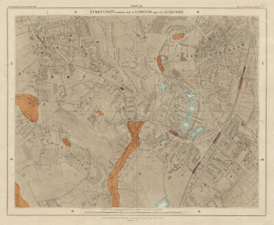 Stanford's Library map of London Sheet 23. Crystal Palace Norwood Sydenham 1877