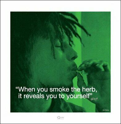 Bob Marley i.Quote - Herb Art Print 40 x 40 cm Officially Licensed