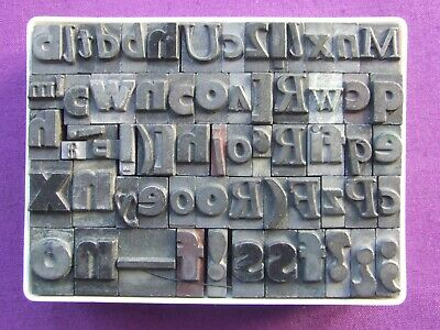 Letterpress Printing Adana BOX OF ODD Sorts Pieces of Used Pied Type BIG LETTERS