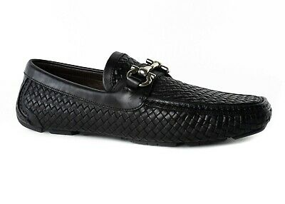 abd282a3e1a New Salvatore Ferragamo Gancini Leather Loafers Drivers Moccasin Shoes MSRP   695