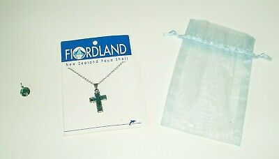 VINTAGE SILVER PENDANTS x 2 FIORDLAND CROSS SHELL BNWT + 1 x VIRGIN MARY KAPULU
