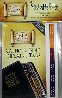 The Great Adventure Catholic Bible Indexing Tabs NEW Pre-cut, Self-Adhesive