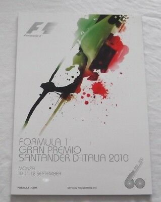 Programme 2010 Italy F1 Grand Prix Monza Alonso Button Massa #Vettel Schumacher