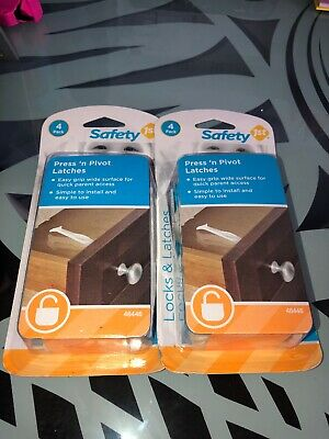Safety 1st. TWO 4pk Press & Pivot Latches! & Grip 'n Twist Door Knob Covers! NEW