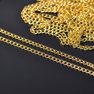5m 1.5mm Gold Plated Metal Link Twisted Chain Jewelry DIY Findings Making Crafts