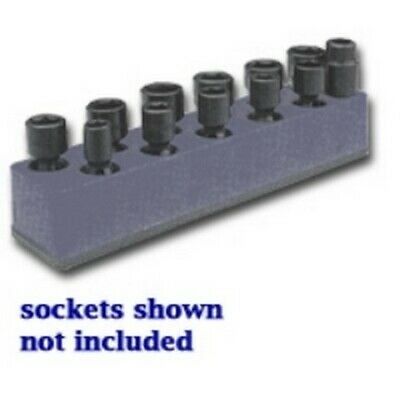 3/8 in. Drive Universal Black 11 Hole Impact Socket Holder 9-19mm MTS988 New!