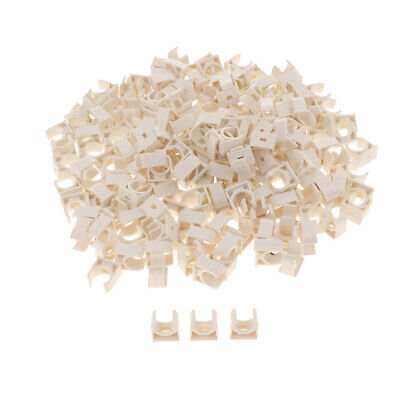 PVC Household U Shaped Water Supply Pipe Hose Holder Clamps Clips 200Pcs