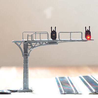 1 x HO /OO gray cantilever block signal bridge tower LED 2 Track 2 direction #22